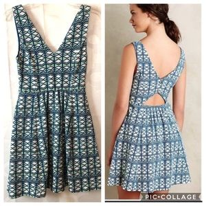 Maeve Anthropologie cut out sleeveless dress 2